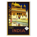 Visit India Vintage Travel Poster Art