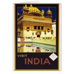 Visit India Vintage Travel Poster Art Card