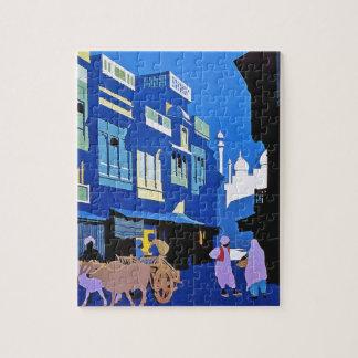 Visit India Vintage Travel Poster Art Jigsaw Puzzle