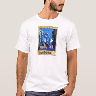 Visit India Vintage Travel Poster Art T-Shirt