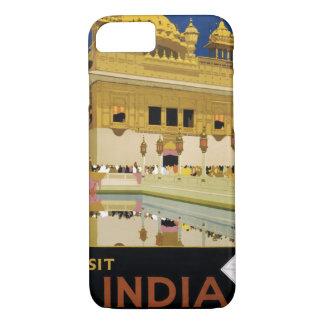 Visit India Vintage Travel Poster Restored iPhone 7 Case