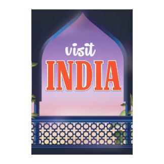 Visit India Vintage travel print. Canvas Print