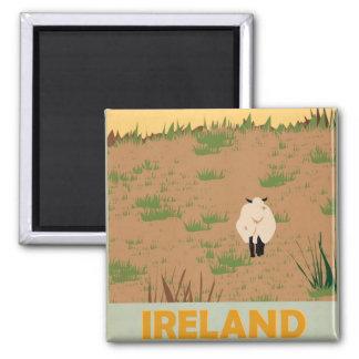 Visit Ireland Vintage Travel Poster 2 Inch Square Magnet