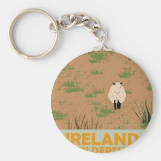 Visit Ireland Vintage Travel Poster Basic Round Button Keychain