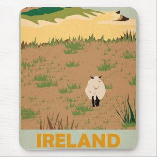 Visit Ireland Vintage Travel Poster Mouse Pad