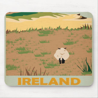 Visit Ireland Vintage Travel Poster Mouse Pad