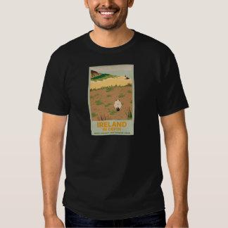 Visit Ireland Vintage Travel Poster Tee Shirt