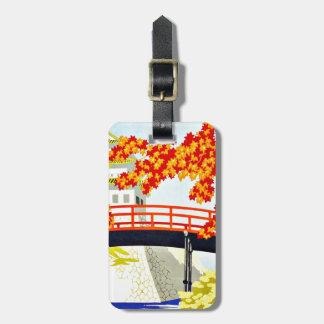 Visit Japan Asia Vintage Travel Bag Tag