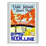 Visit Japan Asia Vintage Travel Postcard