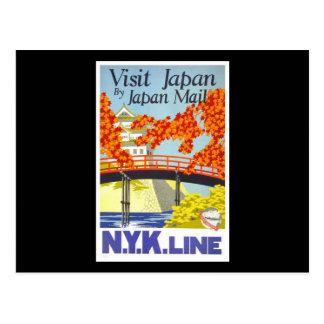 Visit Japan By Japan Mail Postcard