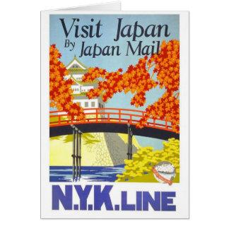 Visit Japan By Mail - N.Y.K. Lines Card