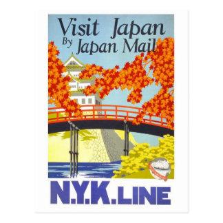 Visit Japan By Mail - N.Y.K. Lines Postcard