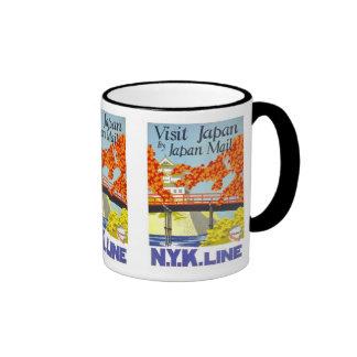 Visit Japan By Mail - N.Y.K. Lines Ringer Mug