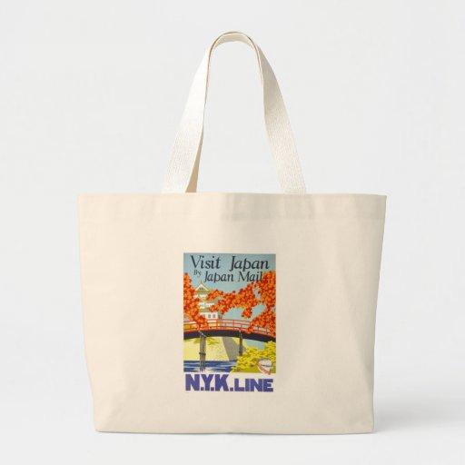 Visit Japan Vintage Travel Art Bag