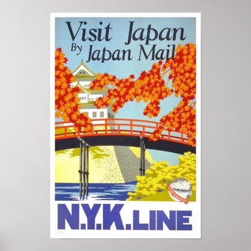 Visit Japan Vintage Travel Poster