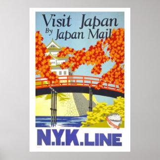 """""""Visit Japan"""" Vintage Travel Poster"""