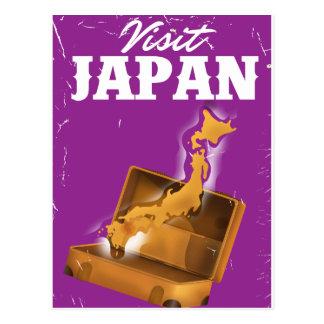 Visit Japan vintage travel poster Postcard