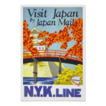 Visit Japan Vintage Travel Print