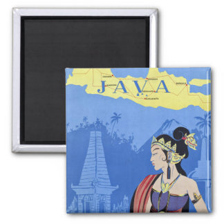 Visit Java 2 Inch Square Magnet