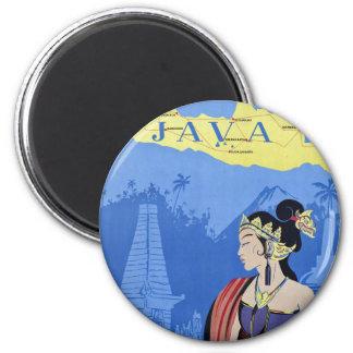 Visit Java 2 Inch Round Magnet