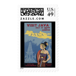 Visit Java Only 36 hours from Singapore Stamp