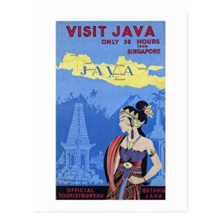 Visit Java Postcard