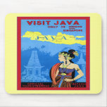Visit Java ~ Vintage Travel Mousepad