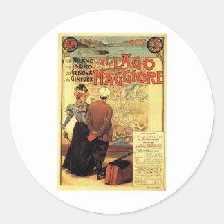 Visit Lake Maggiore Poster sticker