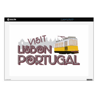Visit Lisbon Portugal Laptop Skin