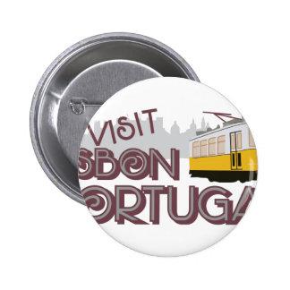 Visit Lisbon Portugal Pinback Button