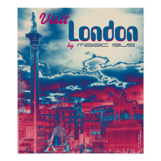 Visit London by Magic Bus poster art