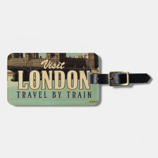 Visit London vintage poster Bag Tag