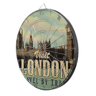 Visit London vintage poster Dart Boards
