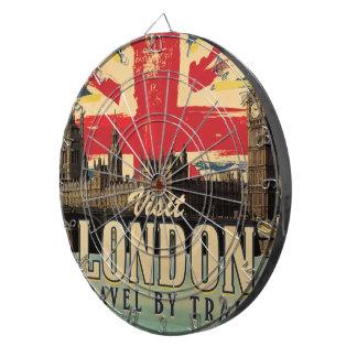 Visit London vintage poster Dartboard