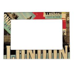 Visit London vintage poster Magnetic Photo Frame
