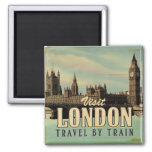 Visit London vintage poster Magnets