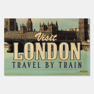 Visit London vintage poster Yard Sign