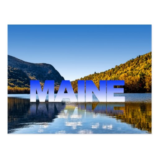 Visit maine postcard zazzle for Best time to visit maine for lobster