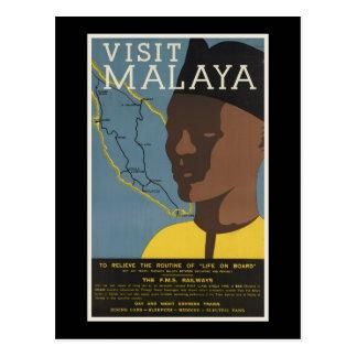 Visit Malaya Postcard