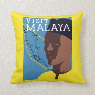 Visit Malaya Throw Pillow