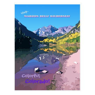 Visit Maroon Bells Wilderness - Colorful Colorado Post Card