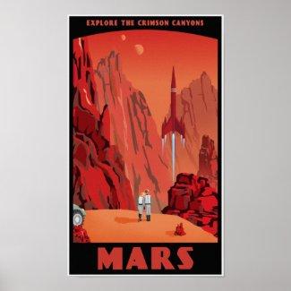 Visit Mars print