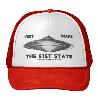 Visit Mars, The 51st State Mesh Hats
