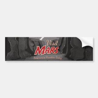 Visit Mars Vintage Poster Bumper Sticker