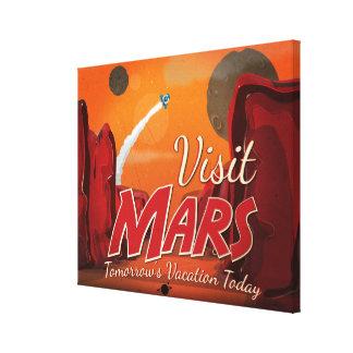 Visit Mars Vintage Poster Canvas Print