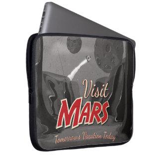 Visit Mars Vintage Poster Computer Sleeve