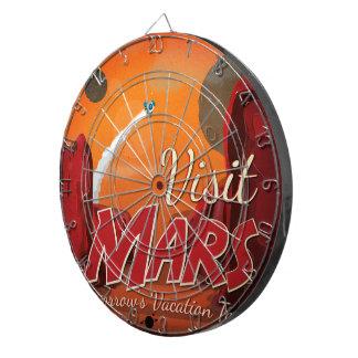 Visit Mars Vintage Poster Dart Board