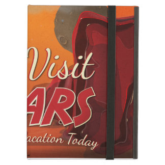 Visit Mars Vintage Poster iPad Air Cover