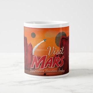 Visit Mars Vintage Poster Large Coffee Mug