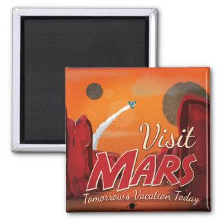 Visit Mars Vintage Poster Magnet